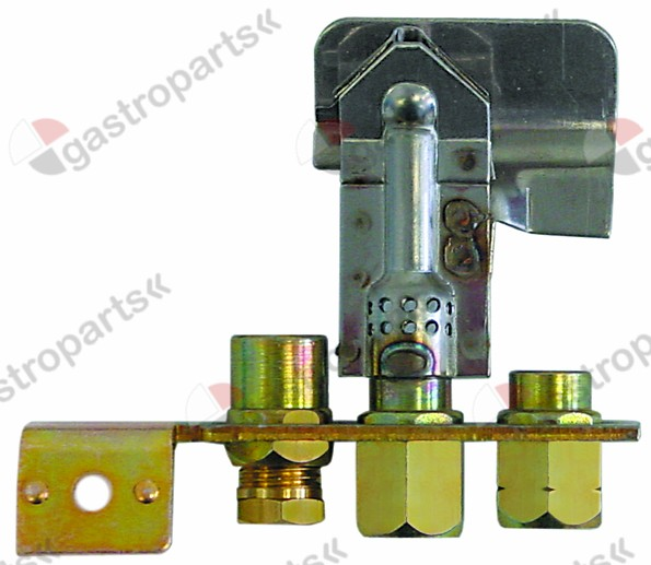 100.076, pilot burner POLIDORO 3 flames natural gas code 29.2 gas connection 6mm