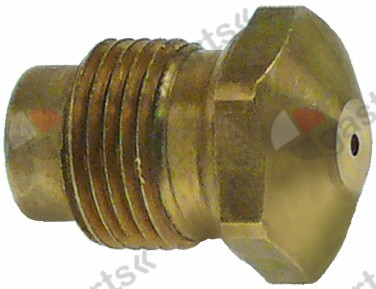 100.284, gas injector thread M12x1 WS 14 bore ø 1.00mm