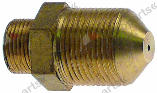 100.370, gas injector T1: M14x1 T2: M10x0.75 WS 14 bore ø 1,65mm natural gas L 26,5mm