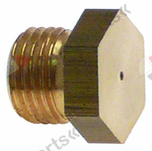 100.380, gas injector thread M10x1 WS 12 bore ø 0,7mm