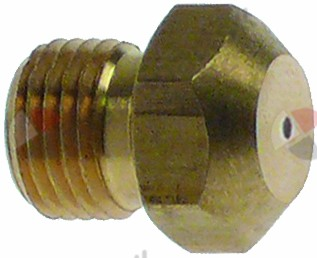100.404, gas injector thread M10x1 WS 12 bore ø 1,35mm