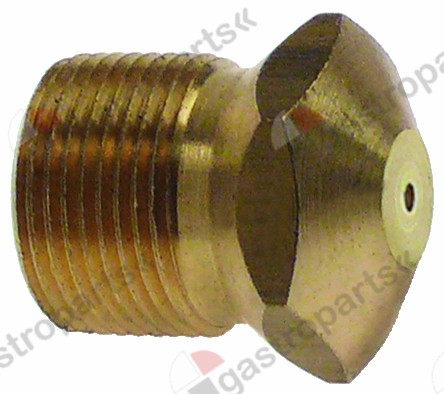 100.456, gas injector thread M15x1 bore ø 2.50mm WS 17