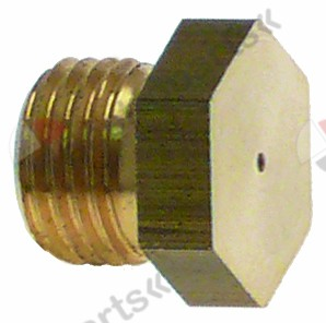 100.542, gas injector thread M10x1 WS 12 bore ø 1,3mm