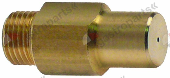 100.633, gas injector thread M10x1 WS 11 bore ø 0,75mm inner peaked