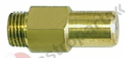 100.651, gas injector thread M10x1 WS 11 bore ø 1,05mm inner flat