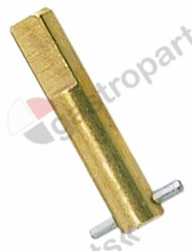 100.938, gas tap spindle shaft ø 6.5x9mm suitable for 24197 series EGA