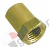 100.965, thermocouple nut thread M8x1 H 15mm WS 11 brass Qty 1 pcs