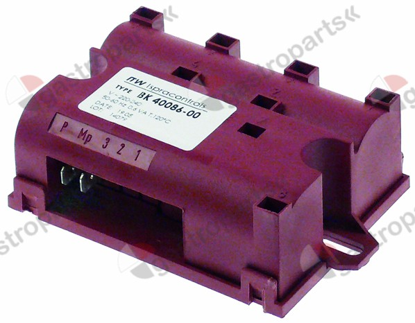 101.005, ignition unit outputs 8 230VAC dimensions 92x68x33mm mounting distance 88mm