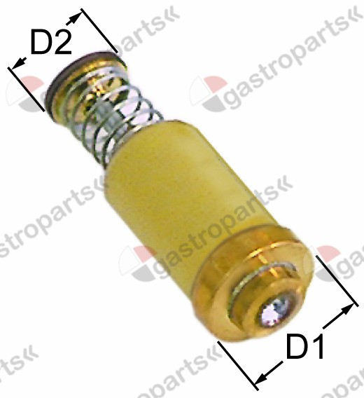 101.040, magnet unit high temperature L 35mm D1 ø 15,4mm D2 ø 11mm suitable for PEL20-21/JUNKERS/EGA