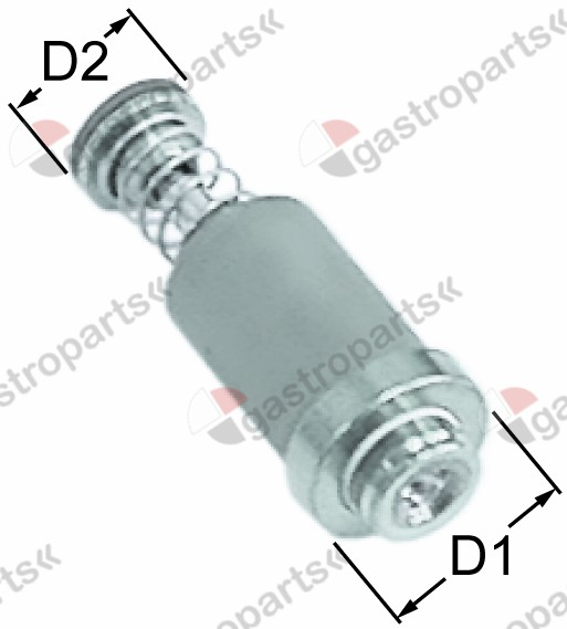101.051, magnet unit L 27mm D1 ø 12,5mm D2 ø 8,5mm