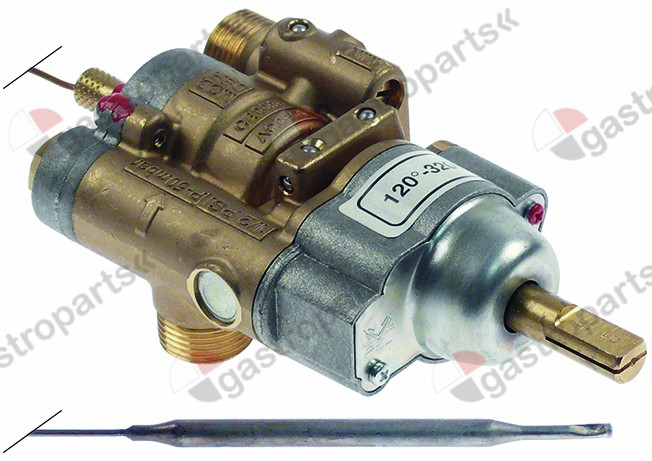 101.076, gas thermostat PEL type 24ST 120-320°C gas inlet M20x1.5 (tube ø 12mm)