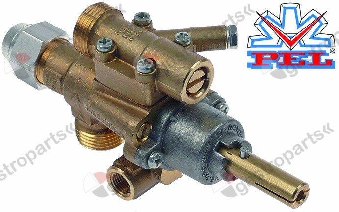 101.090, gas tap PEL type 22S/O gas inlet M20x1.5 (tube ø 12mm)