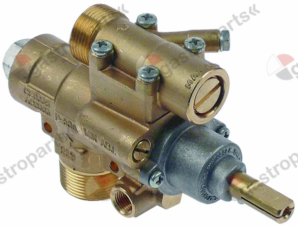 101.092, gas tap PEL type 23S/O gas inlet M28x1.5 (tube ø 20mm)