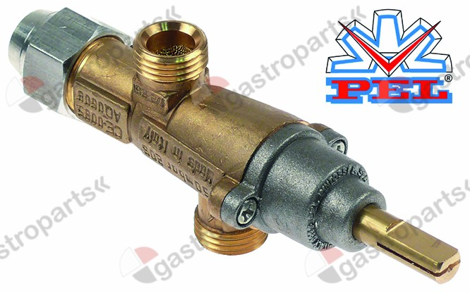 101.094, gas tap PEL type 20S gas inlet M16x1.5 (tube ø 10mm)