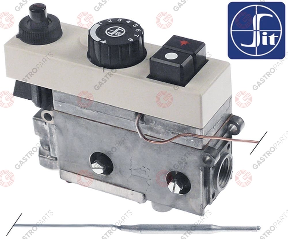 101.109, regulator gazu z termostatem SIT Minisit 710 100-340°C temp. max 340°C