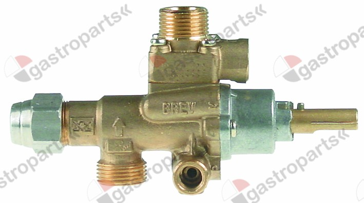 101.157, gas tap PEL type 22S/V gas inlet M20x1.5 (tube ø 12mm)