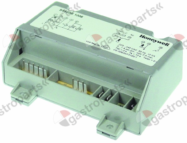 101.166, ignition box HONEYWELL type S4560B 1006 electrodes 1 waiting time 0s safety time 10s