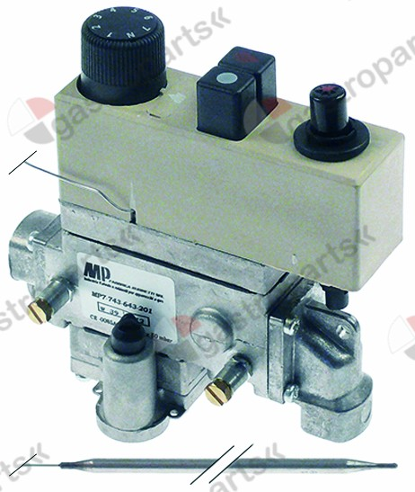 101.177, gas thermostat type 7743-643-201 t.max. 200°C 135-200°C gas inlet 3/8