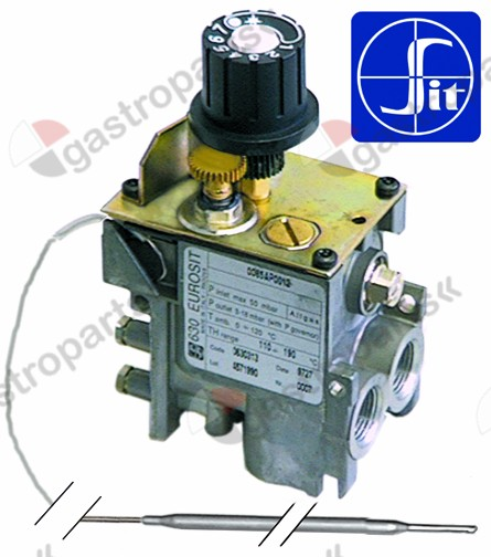 101.188, regulator gazu z termostatem SIT 630 Eurosit series 110-190°C temp. max 190°C