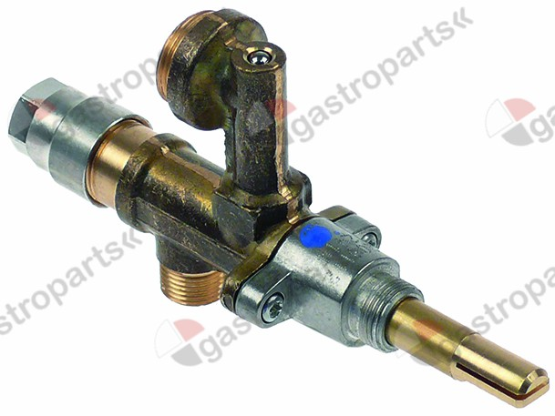 101.192, gas tap MADEC with nozzle outlet (without nozzle) gas inlet M12x1 (tube ø 8mm)