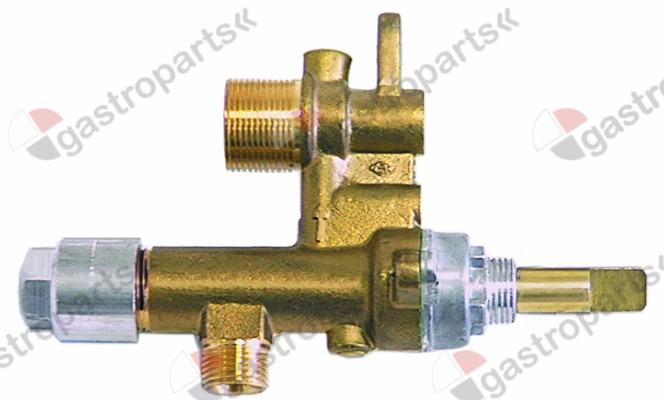 101.193, gas tap MADEC with nozzle outlet (without nozzle) gas inlet M12x1 (tube ø 8mm)