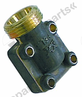 101.235, gas connection thread M20x1.5 tube ø 12/10mm for PEL gas taps horizontal