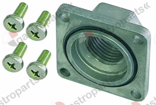 101.307, gas connection straight flange 45x45mm hole distance 36x36mm 3/4