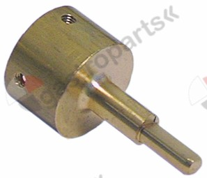 101.391, knob adapter shaft ø 6x4.6mm shaft L 31/15mm suitable for NOVASIT