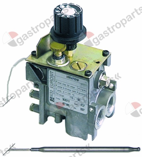 101.409, gas thermostat type 630 Eurosit series t.max. 280°C 40-280°C gas inlet 3/8