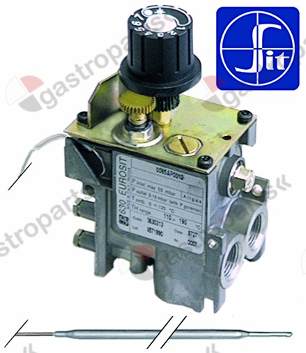 101.413, gas thermostat type 630 Eurosit series t.max. 100°C 30-100°C gas inlet 3/8