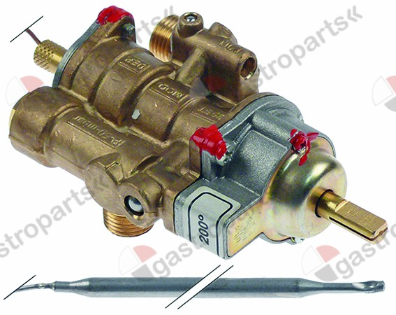 101.442, gas thermostat PEL type 25ST 100-200°C gas inlet M16x1.5 (tube ø 10mm)