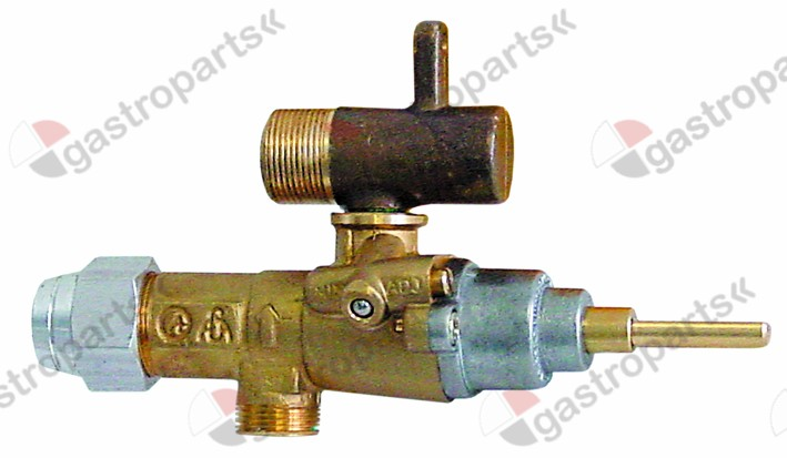 101.603, gas tap alternatives to EGA type GPEL20R with pipe outlet gas inlet M15x1 (tube ø 10mm)