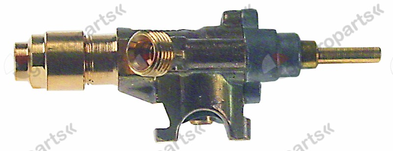 101.749, gas tap SABAF type 10 gas inlet pipe flange ø14mm bypass nozzle ø 0,74mm