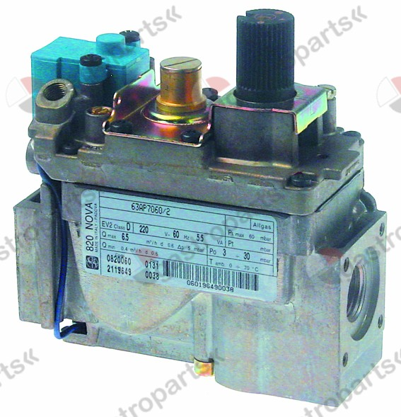 101.760, gas valve series 820 220V 50Hz gas inlet 1/2