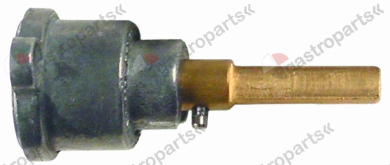 101.802, gas tap front part shaft ø 6x4.6mm shaft L 30/23mm shaft flat right/left suitable for PEL21