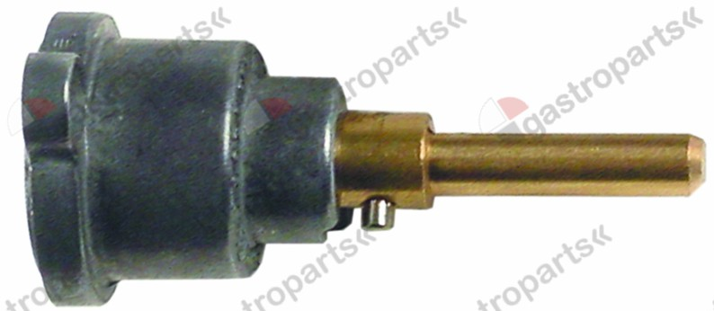 101.803, gas tap front part shaft o 6x4,6mm shaft L 30/23m