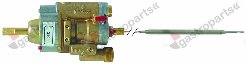 101.900, gas thermostat PEL type 24ST up to 280°C gas inlet M20x1.5 (tube ø 12mm)
