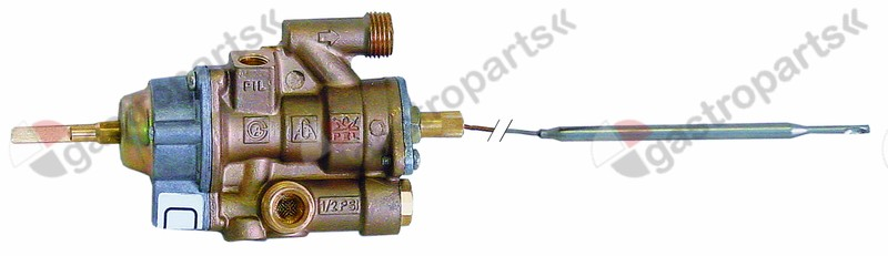 101.907, gas thermostat PEL type 25ST up to 280°C gas inlet M16x1.5 (tube ø 10mm)
