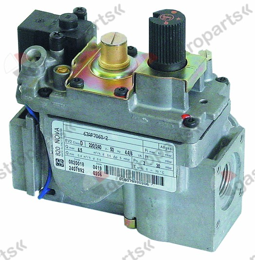 101.908, gas valve series 820 230V 50Hz gas inlet 1/2