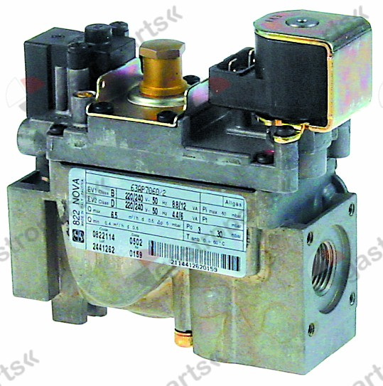 101.914, gas valve series 822 230V 50Hz gas inlet 1/2