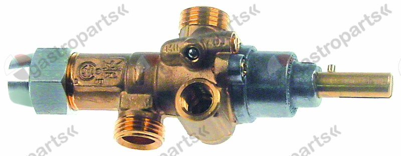 101.917, gas tap PEL type 21S gas inlet M16x1.5 (tube ø 10mm)