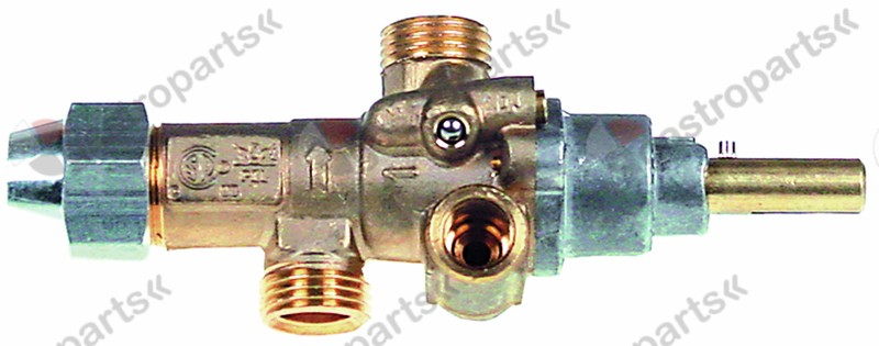 101.918, gas tap PEL type 21S gas inlet M16x1.5 (tube ø 10mm)