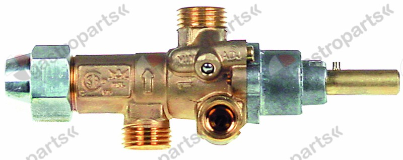 101.919, gas tap PEL type 21S gas inlet M16x1.5 (tube ø 10mm)
