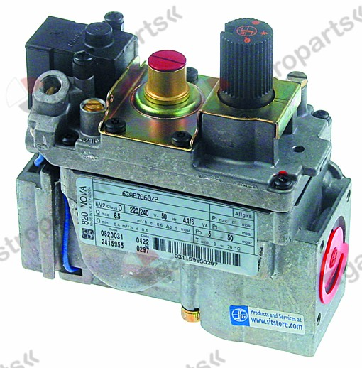 101.956, gas valve series 820 230V 50Hz gas inlet 1/2