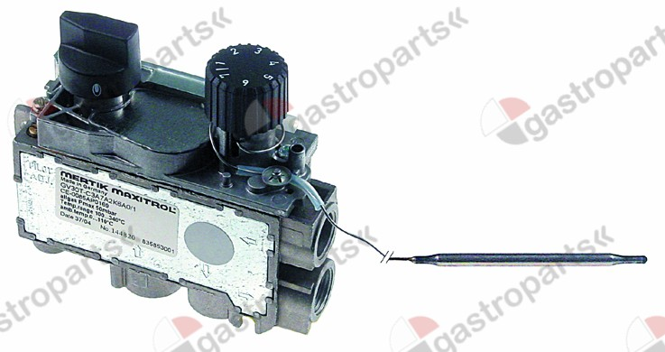 101.957, Replaced by 106814 / 999000 / 106701 / 112556 / gas thermostat MERTIK t.max. 340°C 100-340°Cgas inlet bottom 3/8