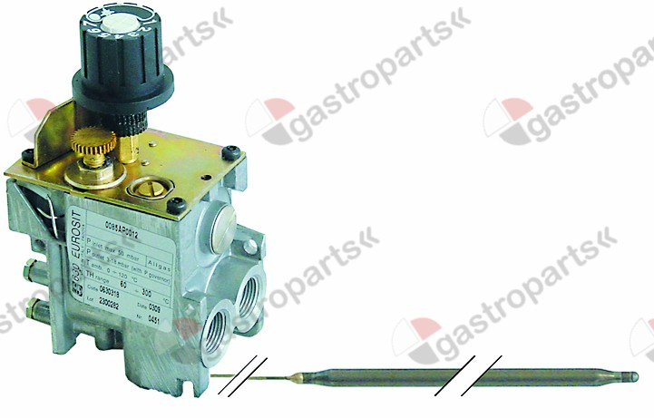 101.992, gas thermostat type 630 Eurosit series t.max. 190°C 110-190°C gas inlet 3/8
