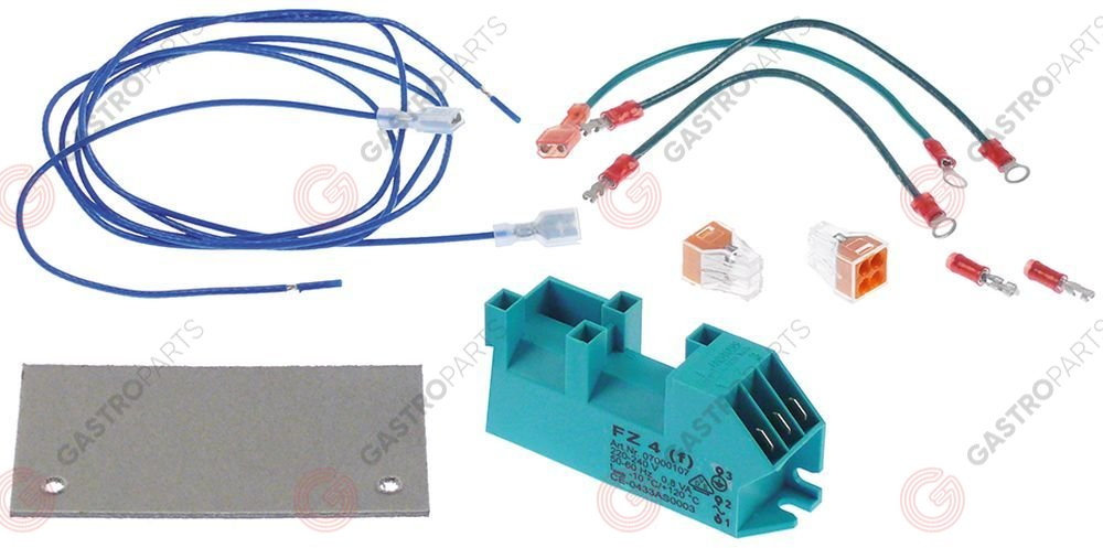 103.257, ignition unit outputs 4 230VAC dimensions 111x28x34mm mounting distance 98mm