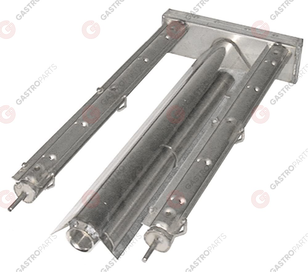 104.156, bar burner 2 row L 435mm W 205mm H 50mm chargrill stainless steel