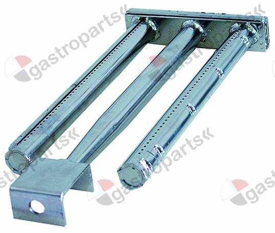 105.075, bar burner 2 row L 455mm W 185mm H 45mm griddle