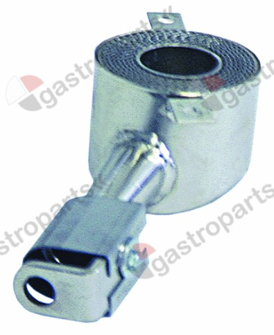 105.117, tubular burner ø 74mm L 180mm H 60mm mounting pos. right round for fryer